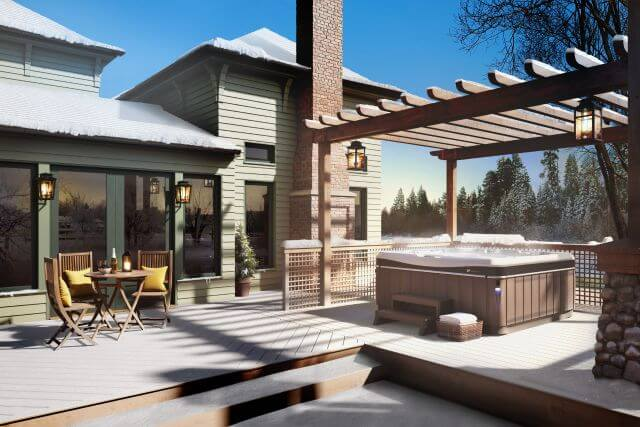 Craftsman elegance around a Caldera Hot Tub