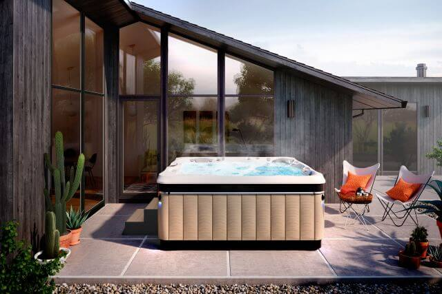 Mid-Century Modern living in a Caldera Hot Tub